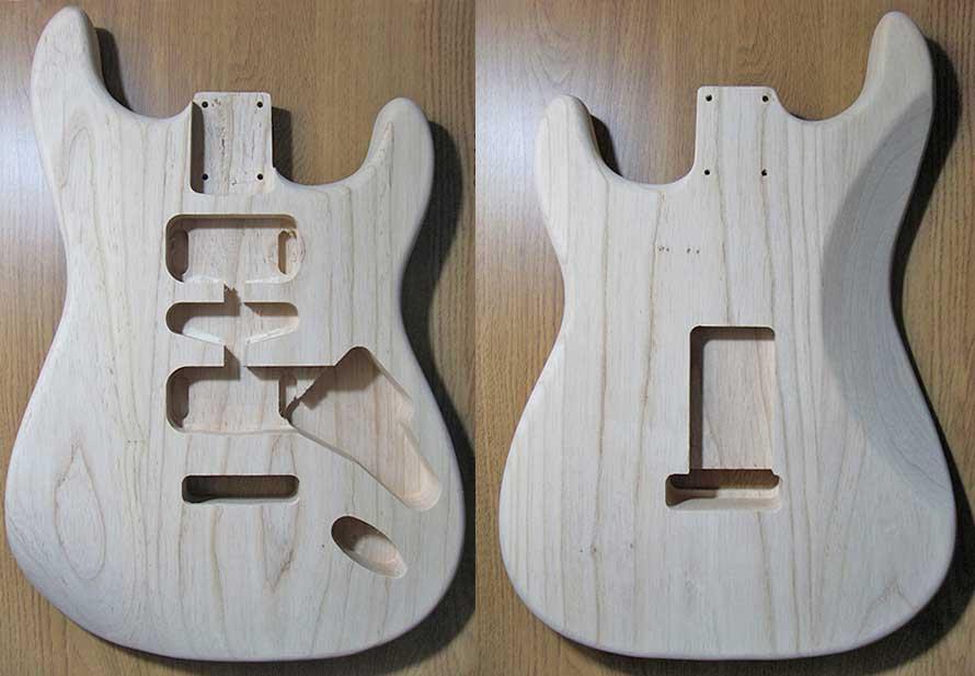 Swamp Ash Stratocaster bodies